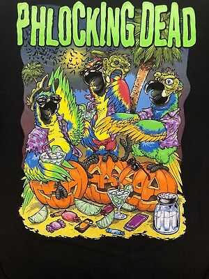 Jimmy Buffett Margaritaville Phlocking Dead Halloween T-Shirt Tee Adult Large