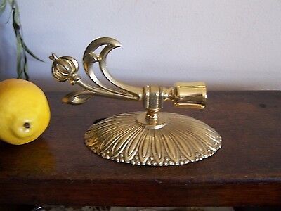 VTG 1970 Heavy Mid-Century Modern Solid Brass Wall Candle Sconce,French Colonial
