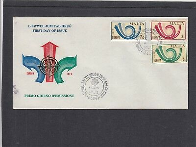 Malta 1973 Europa - Posthorn First Day Cover FDC