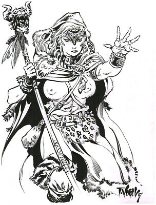 Tim Vigil Original Art Sarna S3 Pin-up Faust SPECIAL!!