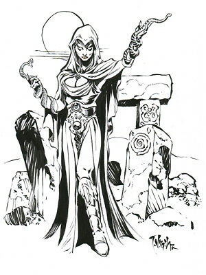 Tim Vigil Original Art Lamia L14 Pin-up Faust SPECIAL!!