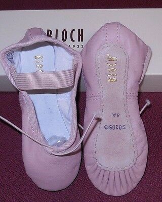 "NWT Bloch Pink leather full sole ballet shoes ch/ladies 205G 205L widths ""B-E"""