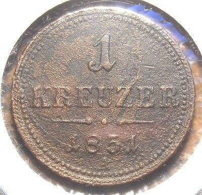 1851-A Austria Kreuzer Copper Coin Some Corrosion
