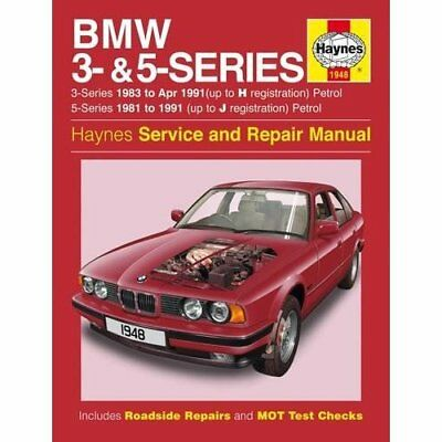 BMW 3- & 5-Series Petrol (81 - 91) Haynes Repair Manual - Paperback NEW Anon 201