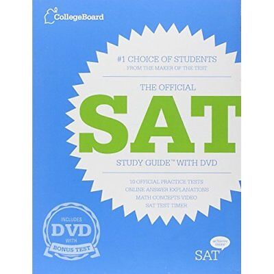 Official SAT Study Guide with DVD, The - Paperback NEW the Board Colle 2012-06-1