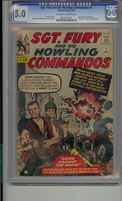 Sgt Fury And His Howling Commandos #1 Cgc 5.0 1St App Sgt Fury Dum Dum Howlers