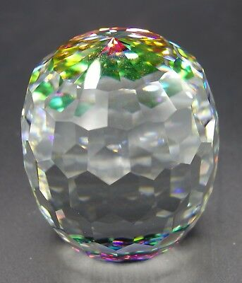 Swarovski Crystal Barrel Revolution Paperweight Vibrant Color Great Condition