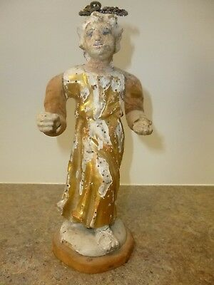 Carved wooden figurine of a woman, 8.5 inches tall, SHIP FREE