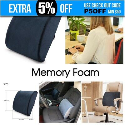 Memory Foam Lumbar Back Waist Support Cushion Pillow Office Home Chair Car Seat