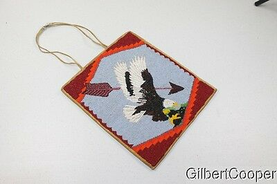 Large Beaded Plateau Bag - Eagle Design