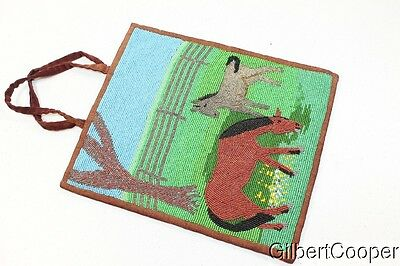 Beautiful Beaded Plateau Bag - Horse Design