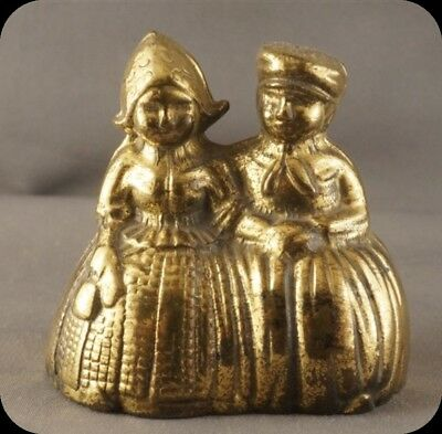 Vintage Brass Dutch Boy and Girl Bell