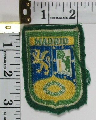 Madrid Spain Souvenir Patch