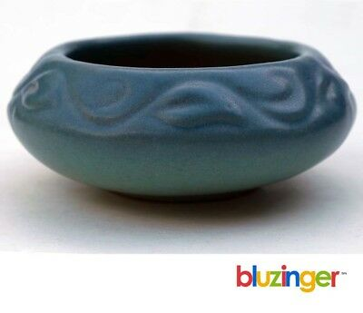 Early Van Briggle Arts & Crafts Dark Blue Ming Turquoise Art Pottery Bowl