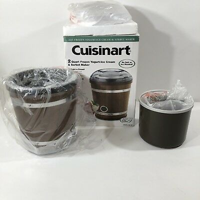 Cuisinart ICE-35 2 Quart Frozen Yogurt, Ice Cream & Sorbet Maker Wood Finish