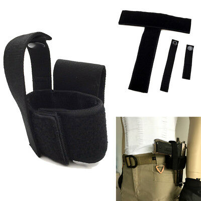 Concealed Hidden Holster Quick Easy Belt for Pistol HandGun Carry Holder Black