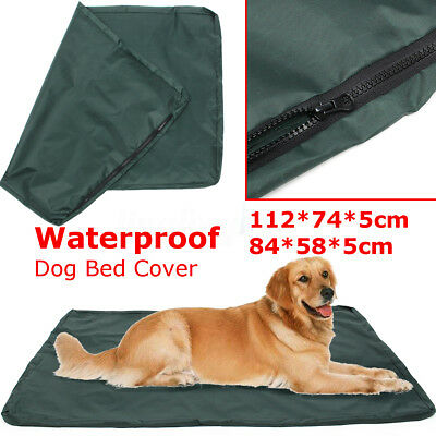 2 Sizes Waterproof Dog Bed Large Washable Cover Pet Cat Mat Pad Cushion Red Bone