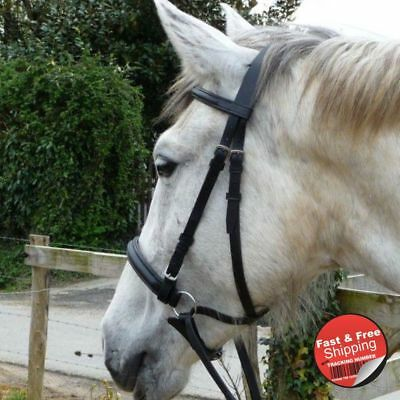 Bitless Black Leather Bridle With Webb / Leather Reins