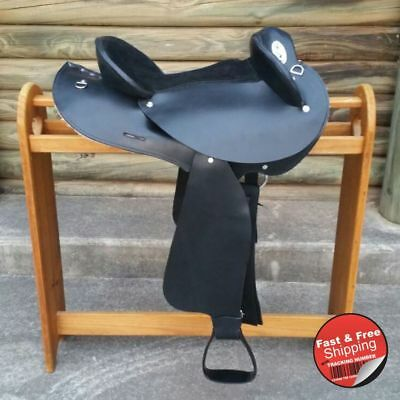 Black-Leather-Half Breed-Swinging Fender Saddle