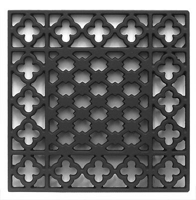 Small Antique Cathedral Cast Iron Floor Gothic Grilles Grids Heating Covers