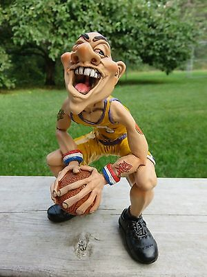 Basketball Player 6.4 In. Warren Stratford Male Figurine With Basketball Tattoos