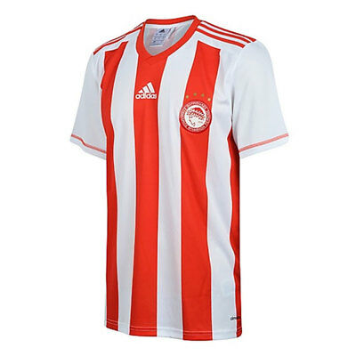 adidas Performance Mens Olympiakos Football Team Home Fan Shirt rrp£40