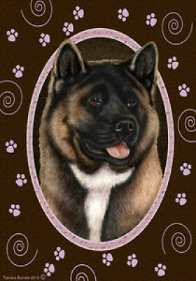 Large Indoor/Outdoor Paws Flag - Akita 17098
