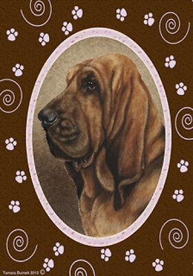 Large Indoor/Outdoor Paws Flag - Bloodhound 17037