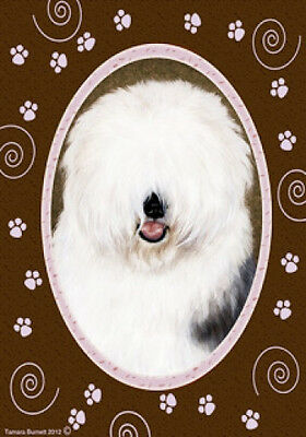 Large Indoor/Outdoor Paws Flag - Old English Sheepdog 17129