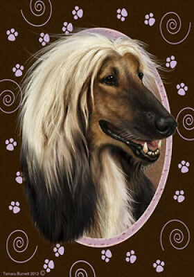 Large Indoor/Outdoor Paws Flag - Afghan Hound 17087