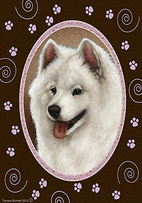 Large Indoor/Outdoor Paws Flag - Samoyed 17077