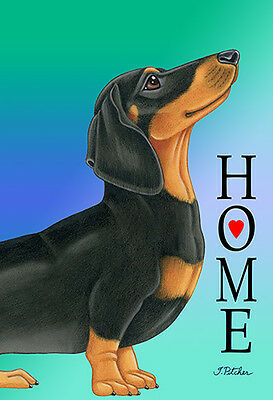Large Indoor/Outdoor Home (TP) Flag - Black & Tan Dachshund 62008