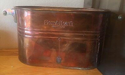 Vintage  Plow & Hearth  Copper & Brass  Large Tub With Wood Handles Va.  Usa