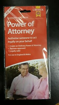 Lawpack Power Of Attorney form (valid for use in  England and Wales)
