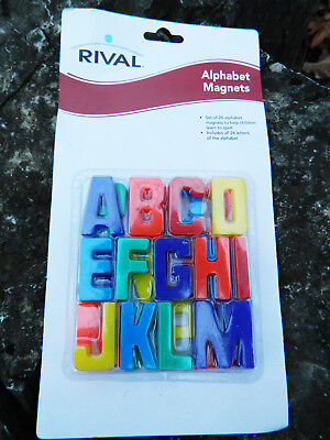 ALPHABET Letters Fridge MAGNETS for Children 26 Pieces NEW Sturdy Colorful 1.25""