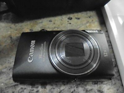 Canon PowerShot ELPH 350 HS Digital Camera - Black W/ CASE AND CHARGER