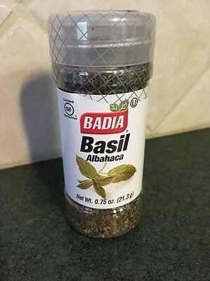 Badia Sweet Basil, Albahaca 0.75 Oz 21.3g Gluten Fee Made In USA