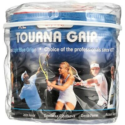 Tourna Tennis Over Grip-30 XL Overgrips-Absorbent Dry Feel Tournagrip-Blue