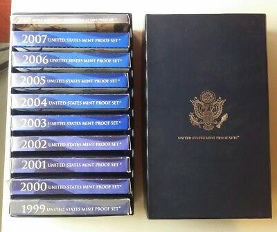 1999-2007 United States Mint Proof Sets in a Box