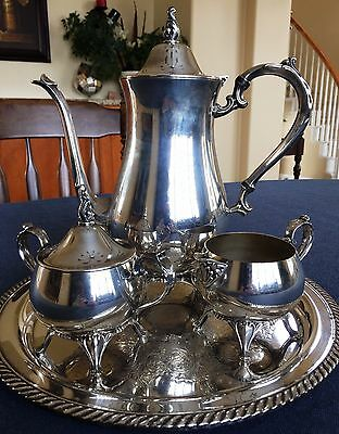 Oneida Silverplate Coffee/Tea 4 pc. Set-FREE SHIPPING!