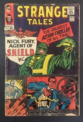 Strange Tales #135 Nick Fury Agent Of SHIELD 1st Appearance Jack Kirby 1965 GD