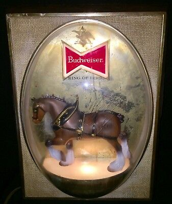 Vintage Budweiser Clydesdale Lighted Electric Sign
