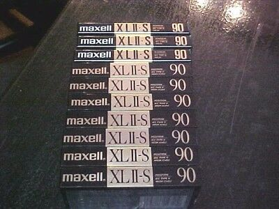 Set of 10 New Maxell XLII-S 90 Cassettes Tapes Japan BOUGHT NEW NEVER USED NOS