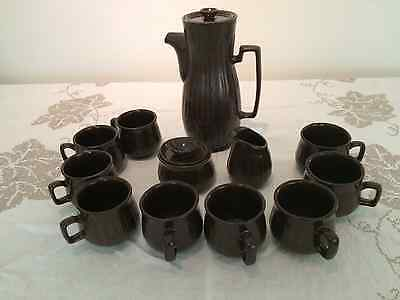 Vtg RED WING ART POTTERY Mid Century Modern Hot Chocolate Coffee Tea Set Pitcher