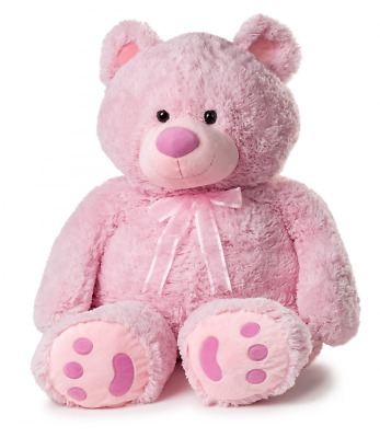 Huge Teddy Bear - Pink  Bear is about 38 inches of huggable Loveable joy new