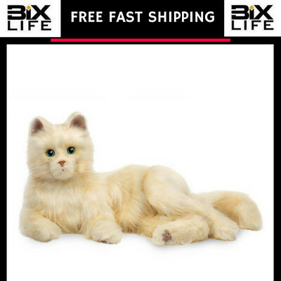Joy For All Creamy White Cat Soft and cuddly pet with fur free shipping new
