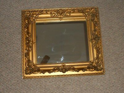 Antique Mirror Ornate 2 Layer Gold Wood Heavy Frame Glass Mirror Rustic Unique