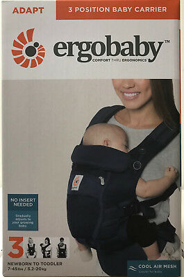 Ergobaby Adapt 3 Position Infant Child Baby Carrier Cool Air Mesh Deep Blue NEW