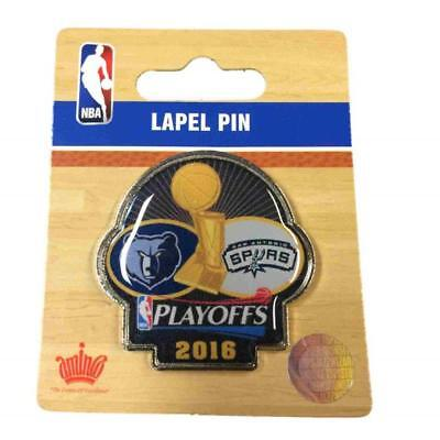 Memphis Grizzlies vs San Antonio Spurs 2016 NBA Playoffs Collectors Lapel Pin