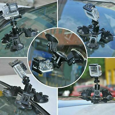 Triple Suction Cup Mounts Glass Sucker Car Holder For GoPro Hero6 5 4 3+2 Camera